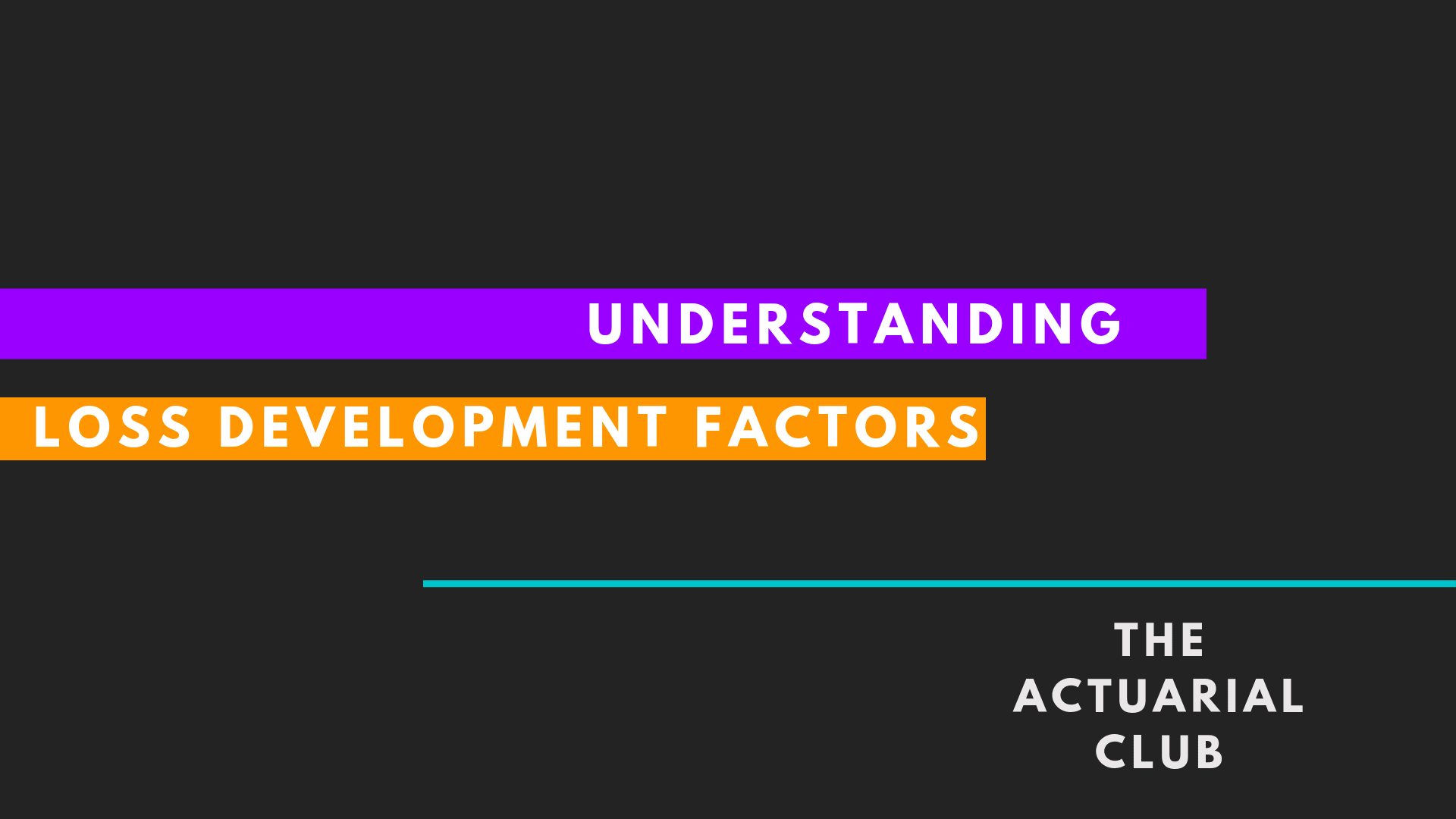 Loss DEvelopment Factors LDF