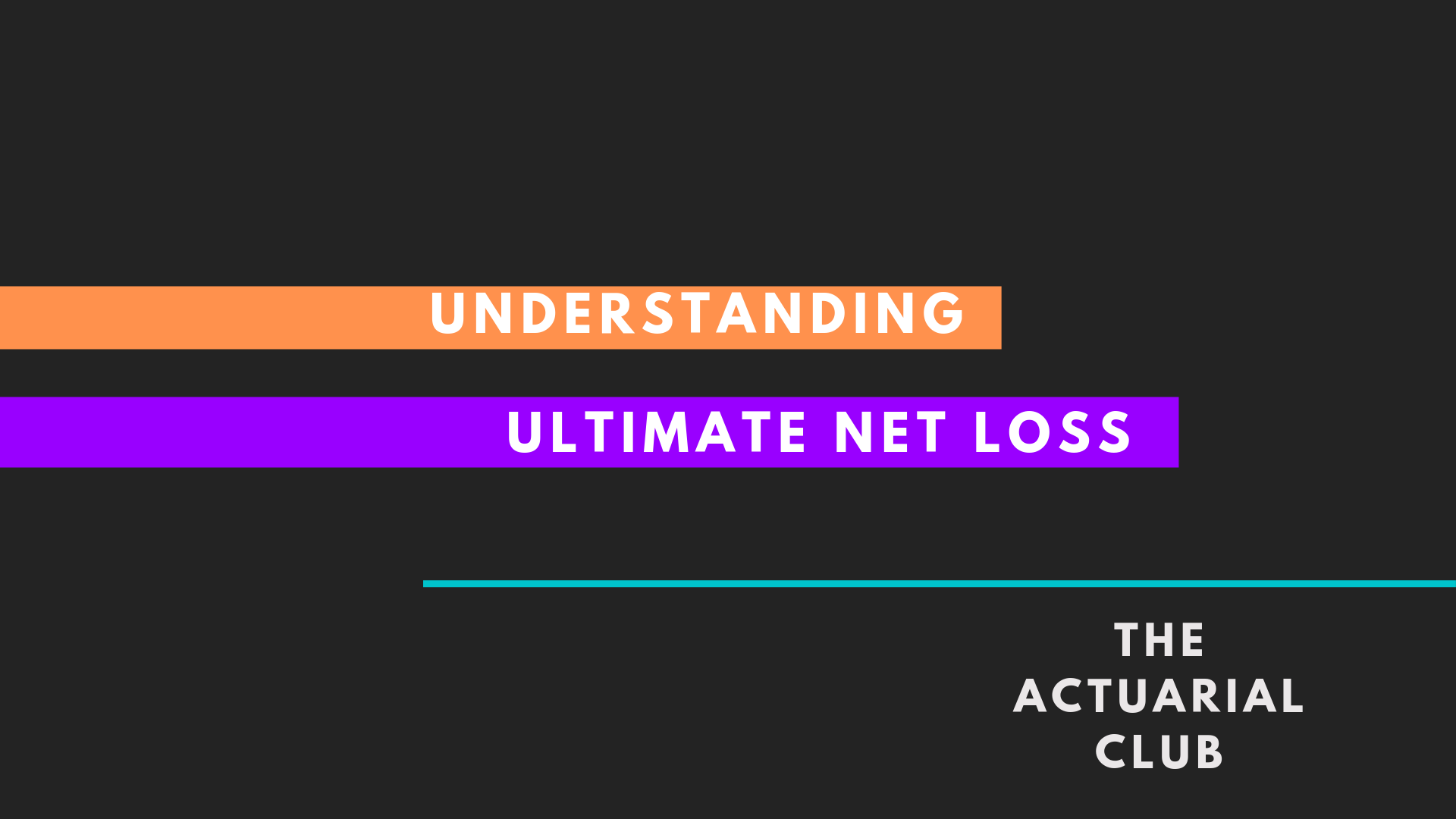 Ultimate Net Loss, third party recovery, reinsurance recovery, salvage